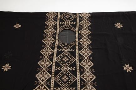 DRESS. Textile, embroidery, 125 x 85 cm