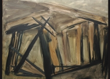 Al-Dahyah 2007, Oil on canvas 115cmX 147cm الضاحية 2007 زيت على قماش