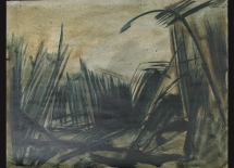 Al-Dahyah 2007, Oil on paper 34cmX 44cm الضاحية 2007 زيت على ورق